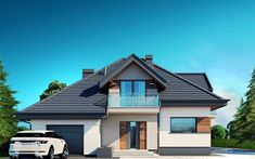 projekt Alicja N Bungalow, Home Fashion, New Homes, Construction, Mansions, Architecture, House Styles, Home Decor, Home Architecture