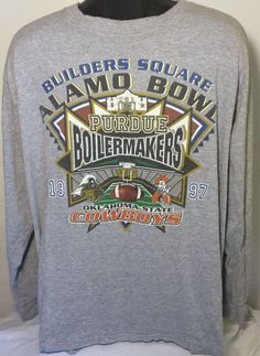 Vintage Purdue Boilermakers Mens XL T Shirt 90s Alamo Bowl Football #AllSport #GraphicTee