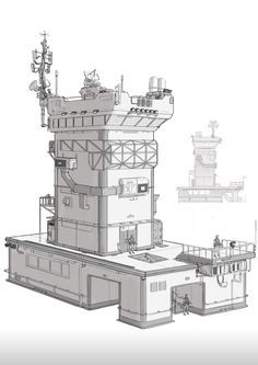 ArtStation - SCI-FI military tower, HanG Wang