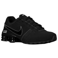 2360bbca08 Nike Shox Deliver Men Shoes Total Black Casual Trainers Sneakers ...