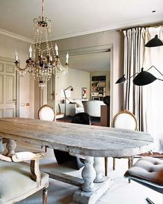 Decorative Dining Room Interior Design Ideas With Natural Style White Wall  And Chandelier In Night Also Wooden Table Complete Chair White Cushion Also  ...
