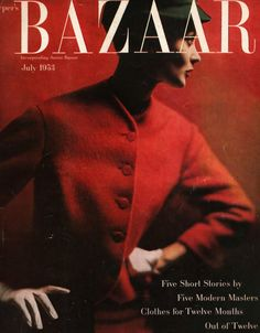 Harper's Bazaar cover from July 1953 photographed by Lillian Bassman