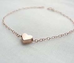 Rose Gold Heart Bracelet
