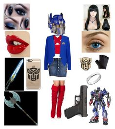 """""""WOMANIZATION: Optimus Prime"""" by amyluprime on Polyvore featuring art"""