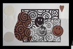 """andrea mattiello """"semaforico imprinting""""   acrilico e collage su stampa fotografica su carta cotone cm 34x48; 2012"""