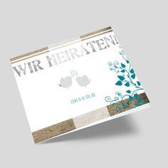 Hochzeitseinladungen mit Vögel - süße Einladungskarten zur Hochzeit Money Clip, Weddings, Bunting Bag, Marriage Anniversary, Wedding, Money Clips, Marriage