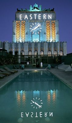 As classic pools go, the rooftop waters of the landmark Eastern Columbia lofts are hard to beat. The stunning clock tower is lighted at nigh...