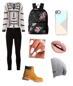 """""""Winter ootd"""" by andreeaberecz on Polyvore featuring Anna Kosturova, Frame, Timberland, Vans, Casetify, The North Face and Nevermind"""