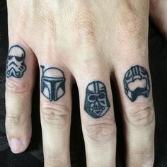 Pin for Later: 20 Tiny Star Wars Tattoo Ideas Perfect For Any Fan of the Force Different Star Wars Helmets