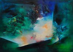 """Apertura"" - Paula Barbella - Oleo sobre tela - 80 x 110 cm www.esencialismo.com"