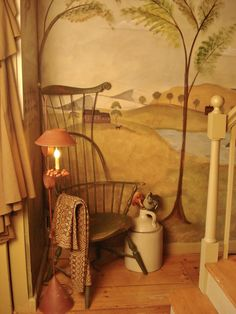 Wall Murals Painted Stairways Hallways 56 Ideas For 2019 Prim Decor, Country Decor, Primitive Decor, Home By, Primitive Furniture, Country Furniture, Hearth And Home, Wall Treatments, Stairways