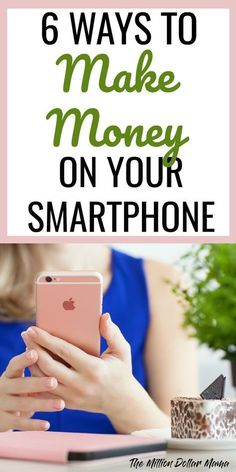 How to make money on your smartphone - did you know that you can make extra cash from home on your smartphone? Here are 6 of my favorite ways to make money on my smartphone.