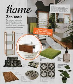 Featured in Australian Magazine - Canberra Weekly October 2017 Timber Walls, Vanity Cabinet, Basin, Wall Mount, Bamboo, October, Magazine, House Styles, Furniture