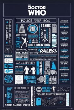 Doctor Who - Infographic Poster at AllPosters.com