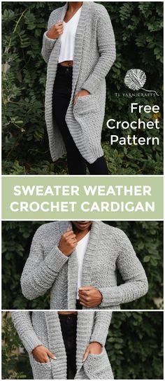 The Sweater Weather Cardi, a FREE pattern from TLYCBlog in collaboration with JOANN Stores, is the first cardigan you'll reach for all winter! Made with comfortable worsted weight yarn in your favorite color, this casual layering sweater is chic, modern, and casual at the same time. Wear it to the office, school dropoff, or those late night Target runs - it's perfect for any ocassion! -- The Sweater Weather Cardi is a FREE crochet pattern featuring step by step instructions and is available…