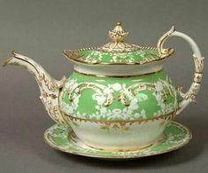 Teiera classica Vintage China, Vintage Tea, Antique China, Teapots And Cups, Tea Art, Tea Service, Tea Ceremony, Tea Time, Tea Cups