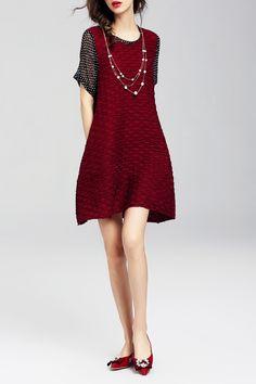 Polka Dot Spliced Dress