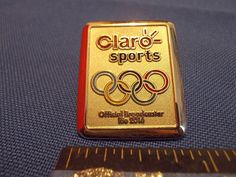 2016 Rio Olympic Media Pin Claro Sports Silver