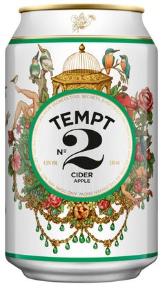 Tempt Cider can, designed by DDB Denmark