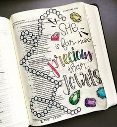 Bible Journaling by Mimi @_mimi_rn | Proverbs 31:10