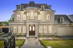 Sold by Melbourne Deluxe Dream Home Design, House Design, Classic House Exterior, Luxury Homes Dream Houses, Grand Homes, Real Estate Sales, French Provincial, House Front, Garden Beds