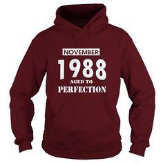 I Love 11 November 1988 November Born Birthday Aged to Perfection T Shirt Hoodie Shirt VNeck Shirt Sweat Shirt Youth Tee for womens and Men T-Shirts