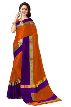 joshindia purple and safron color designer silk printed Party Wear saree with blouse Indian Designer Sarees, Latest Designer Sarees, Latest Sarees, Ethnic Sarees, Indian Sarees, Bengali Saree, Party Wear Sarees Online, Simple Sarees, Saree Shopping