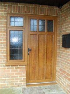 An aluminium panelled door from Micron Windows in Orpington Entrance Doors, Garage Doors, Front Doors, Composite Door, Aluminium Doors, Panel Doors, Tall Cabinet Storage, Windows, Outdoor Decor