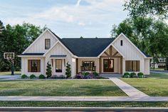 Basement House Plans, Ranch House Plans, Craftsman House Plans, Rambler House Plans, Ranch Farm House, Brick Ranch Houses, Metal Roof Houses, Farm Houses, Metal Buildings