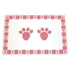 Pink Pet Paws Placemat by Petrageous Designs, http://www.amazon.com/dp/B002LGXPG2/ref=cm_sw_r_pi_dp_8UZwqb0J1A9NT