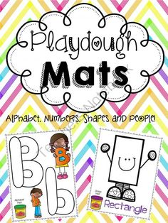 Printable Playough Mats! Print, Laminate, and GO! from Teacher Twinkle Toes on TeachersNotebook.com - (75 pages) - These vibrant Playdough Mats are sure to bring hours of learning fun to your classroom! These mats are fantastic for center time.