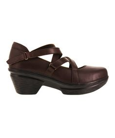 Look at this #zulilyfind! Dark Brown Neve Leather Mary Jane #zulilyfinds