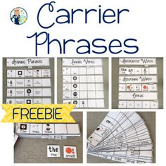 Carrier Phrases for Increasing Utterances - Sentence Starters with Visuals FREE Speech Language Therapy, Speech Language Pathology, Speech And Language, Expanding Expression Tool, Speech Therapy Activities, Language Activities, Love Speech, Articulation Therapy, Receptive Language