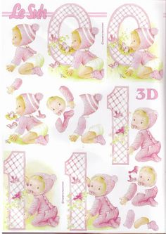3d evenement - Page 6 Vintage Baby Pictures, Images Vintage, Happy Birthday Theme, Birthday Cards, Art Deco Cards, Image 3d, 3d Sheets, 3d Cards, Decoupage Paper
