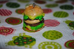 A tiny burger, I wanted to make a more cartoon look than a realistic one.