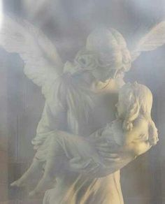 ~J Sweet Guardian Angel gently takes a little girl's soul safely to her Father {GOD} in heaven.
