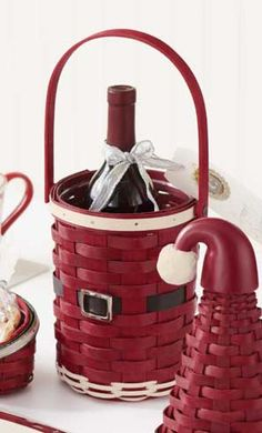 Longaberger Baskets-Enjoy a festive Christmas with fun, seasonal creations you won't find anywhere else — like the Santa Belly Beverage Basket. Great for entertaining, gift giving, for a little one's art supplies or holding a thermos at a tailgate party. www.shopbasketsnmore.com