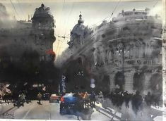 Génova - Italy! 75 x 56 cm Watercolour Alvaro Castagnet