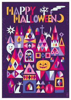 スズキトモコ|tomo-com.com Halloween Illustration, Retro Illustration, Halloween 2020, Happy Halloween, Cool Words, Art For Kids, Greeting Cards, Kids Rugs, Graphic Design