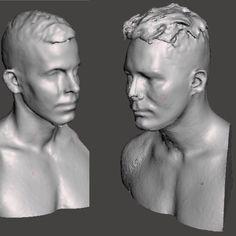 3D-skannasin Elastisen ja Cheekin ylävartalot