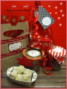 Bratapfel-Konfitüre, Winterzauber-Pralinen, Weihnachts-Traumstücke und ein weihnachtlicher Gewürzkuchen im Glas