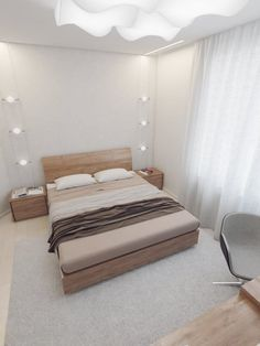 Sparkling White Apartment Bedroom