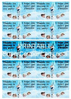 Free Disney Frozen Party Bag Toppers http://www.supercouponlady.com/2014/03/free-disney-frozen-party-bag-toppers.html/