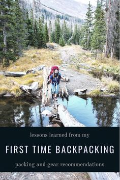 Beginner backpacking lessons and tips from my first time backpacking in Colorado #beginnerbackpackinggear #firsttimebackpackcamping #firsttimebackpacker #firsttimebackpackinggear #femalebackpacking #girlscampingtrip #coloradocamping #coloradobackpackingtrips Colorado Backpacking, Hiking Trips, Backpacking Tips, Hiking Gear, Backpack Reviews, Long Haul, First Time, Traveling, Camping