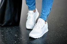 Reebok sneakers.  Classic white.