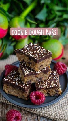 Protein Desserts, High Protein Snacks, Protein Foods, Cookie Desserts, Vegan Desserts, Fun Baking Recipes, Gluten Free Recipes, Vegan Recipes, Dessert Recipes