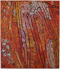 Naata Nungurrrai, Untitled, 2007, synthetic polymer paint on canvas, 107 x 91 cm. National Gallery of Australia: 'unDisclosed' (Second National Indigenous Art Triennial), Canberra, 2012.
