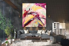 Large Abstract wall art,Original Abstract wall art,large art on canvas,xl abstract painting,abstract wall art FY0070