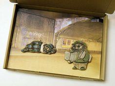 Set Künstler - Anhänger - *Wohnungslose*... von zeit-geister auf DaWanda.com