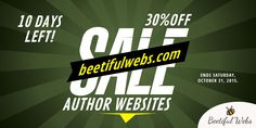AUTHOR WEBSITES on sale for 30% off @ http://beetiful.com . Make your readers want to keep coming back! #beetiful